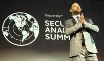Sergey Novikov, Deputy Director, Global Research & Analysis Team, during the Conference Day One of the Kaspersky Security Analyst Summit 2018. Credit: Manuel Velasquez/Getty Images