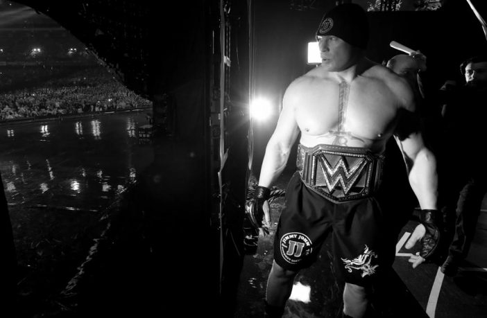 Brock Lesnar backstage at Wrestlemania 34. Credit: WWE