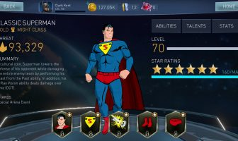 Classic Superman in Injustice 2 Mobile. Credit WB Games