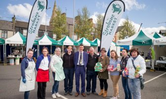 Deputy Mayor of Derry City and Strabane District Council, Councillor John Boyle, with some of the Market Traders.