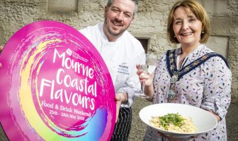 Newry, Mourne and Down District Council Chairperson, Councillor Roisin Mulgrew pictured with Head Chef Roger Moynihan of Mourne Seafood Cookery School, Kilkeel.