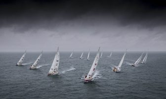 The Clipper 2017-18 Round the World Yacht Race Fleet. Credit: onEdition