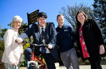 Cllr Angela Smyth, Mayor Paul Reid, Outdoor Recreation Officer Niall Curneen and Ald Maureen Morrow launching Bike Week 2018