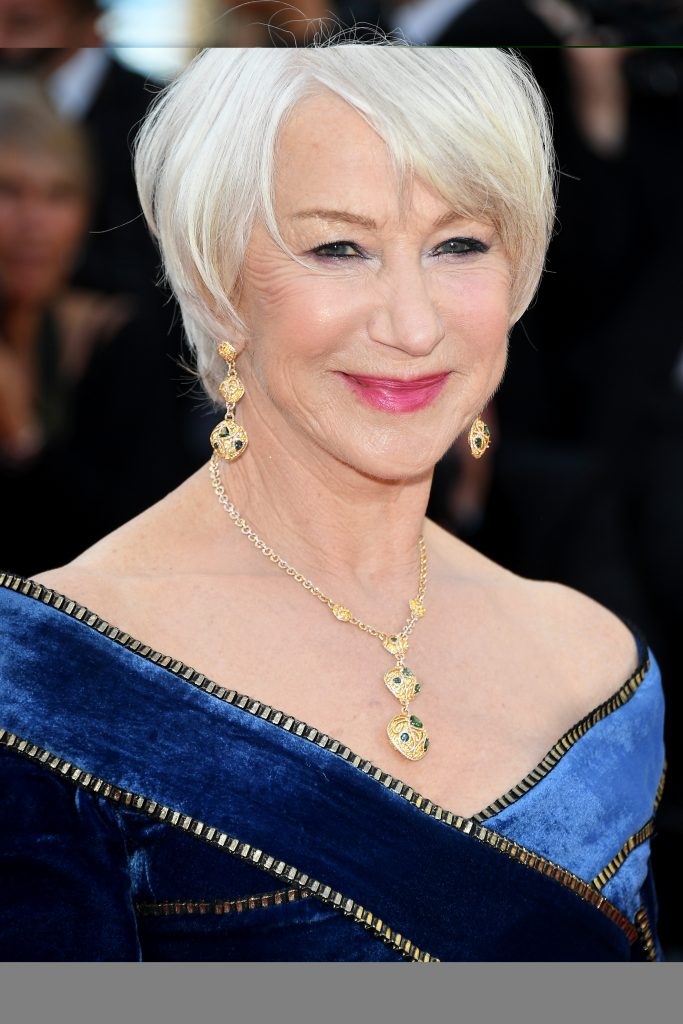 "Actress Helen Mirren attends the screening of ""Girls Of The Sun (Les Filles Du Soleil)"" during the 71st annual Cannes Film Festival at Palais des Festivals on May 12, 2018 in Cannes, France. Credit: Venturelli/WireImage"