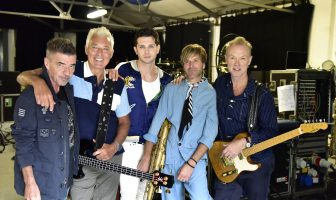 Spandau Ballet with New Lead Singer Ross William Wild. Credit: Denis O'Regan
