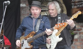 "John Conlon (left) and Ian ""Speedo"" Wilson from Tinn Lizzy (Thin Lizzy tribute band. Credit: Tony Murray"