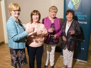 Jacinta Reel, Rosemary Loughran, Susan Loughran and Sue O'Hare from Dorsey Community Association at the Thank You Evening in Kilmorey Arms Hotel.