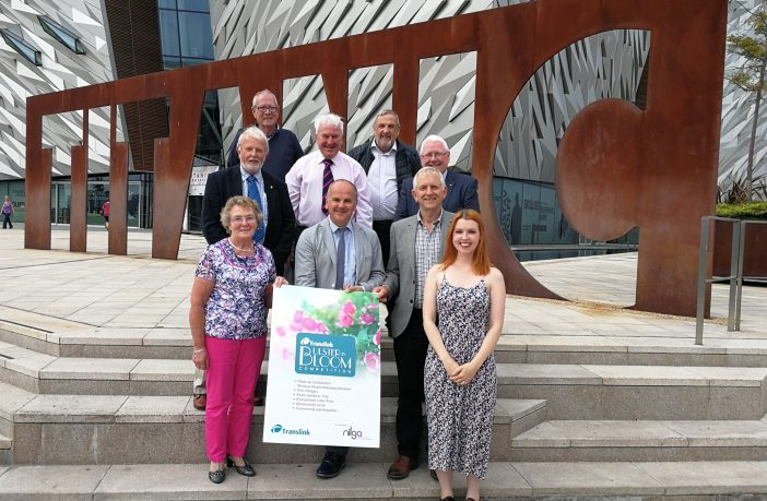 A Council delegation and representatives from Ahoghill, Cullybackey, Gracehill and Whitehead at the launch in Belfast.