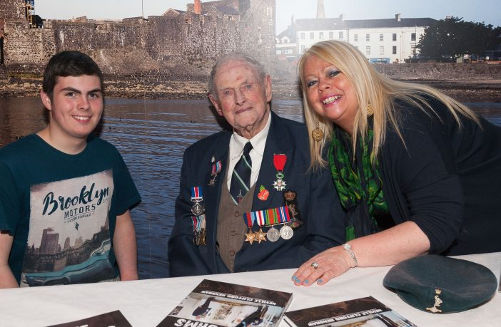 Mr Henshaw, with grandson Jordan and daughted Louann