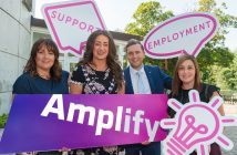 Mary McCann, Stride Project Manager USEL, Mayor Lindsay Millar, Sean Hanna, Programme Manager NOW Group, and Michelle McMullan of Network Personnel.