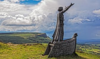 Manannan MacLir Sculpture by John Sutton at Gortmore, Magilligan, County Londonderry