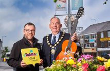 Chair of Mid Ulster District Council, Councillor Sean McPeake is pictured launching the first ever Tafelta Festival, which will take place in Magherafelt from 10-12 August, with Mark Stewart, Chair of Magherafelt Town Centre Forum.