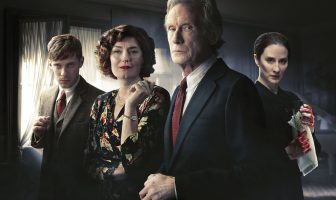 Arthur Calgary (LUKE TREADAWAY), Rachel Argyll (ANNA CHANCELLOR), Leo Argyll (BILL NIGHY), Kirsten Lindstrom (MORVEN CHRISTIE). Credit: Mammoth Screen/ACL - Photographer: James Fisher/Joss Barratt