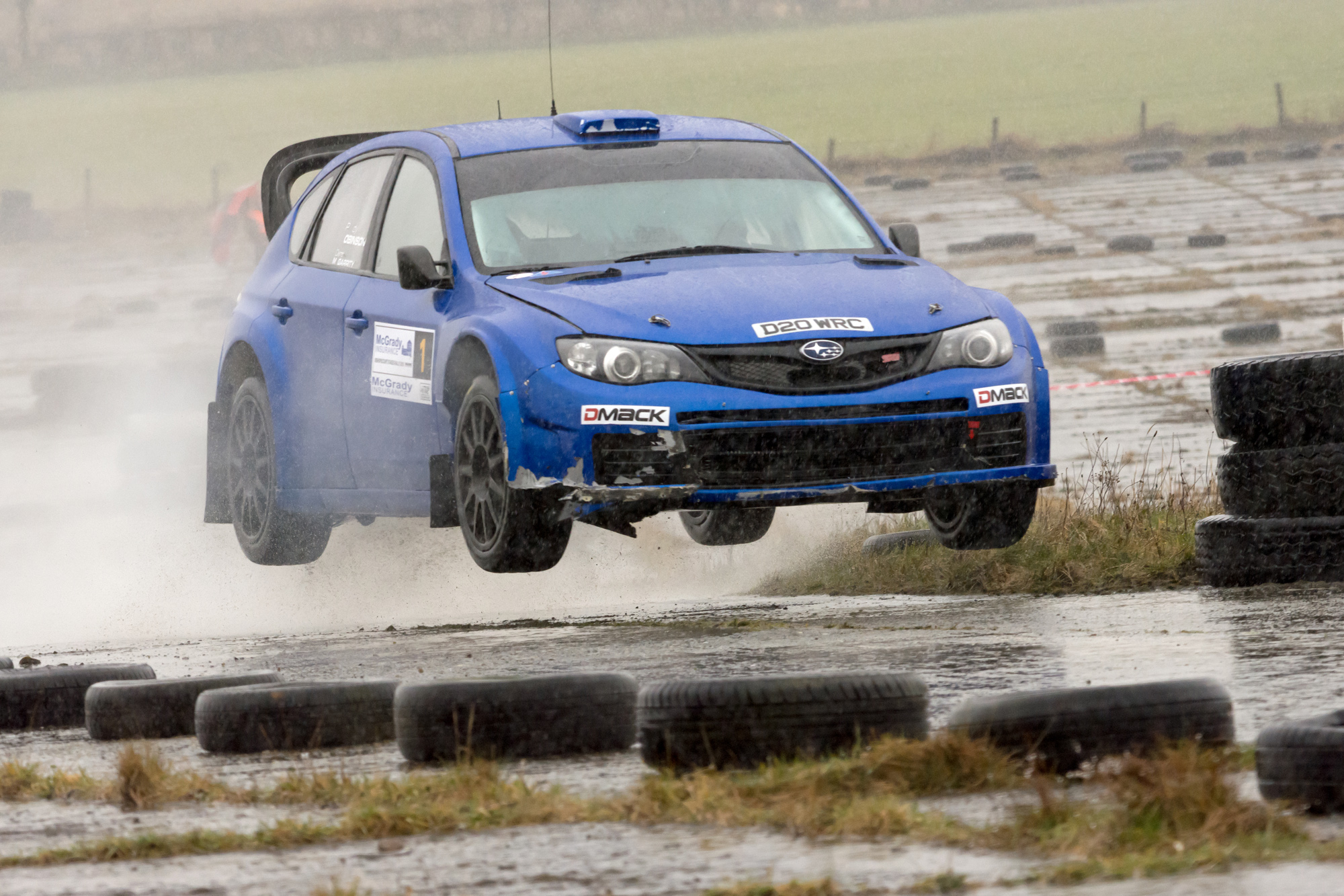 Derek McGarrity in full flight at the Bishopscourt Stages event, round 1 of the Mc Grady Insurance MSA ANICC Stage Rally Championship 2018. Credit: Bill Swann/i2i photography