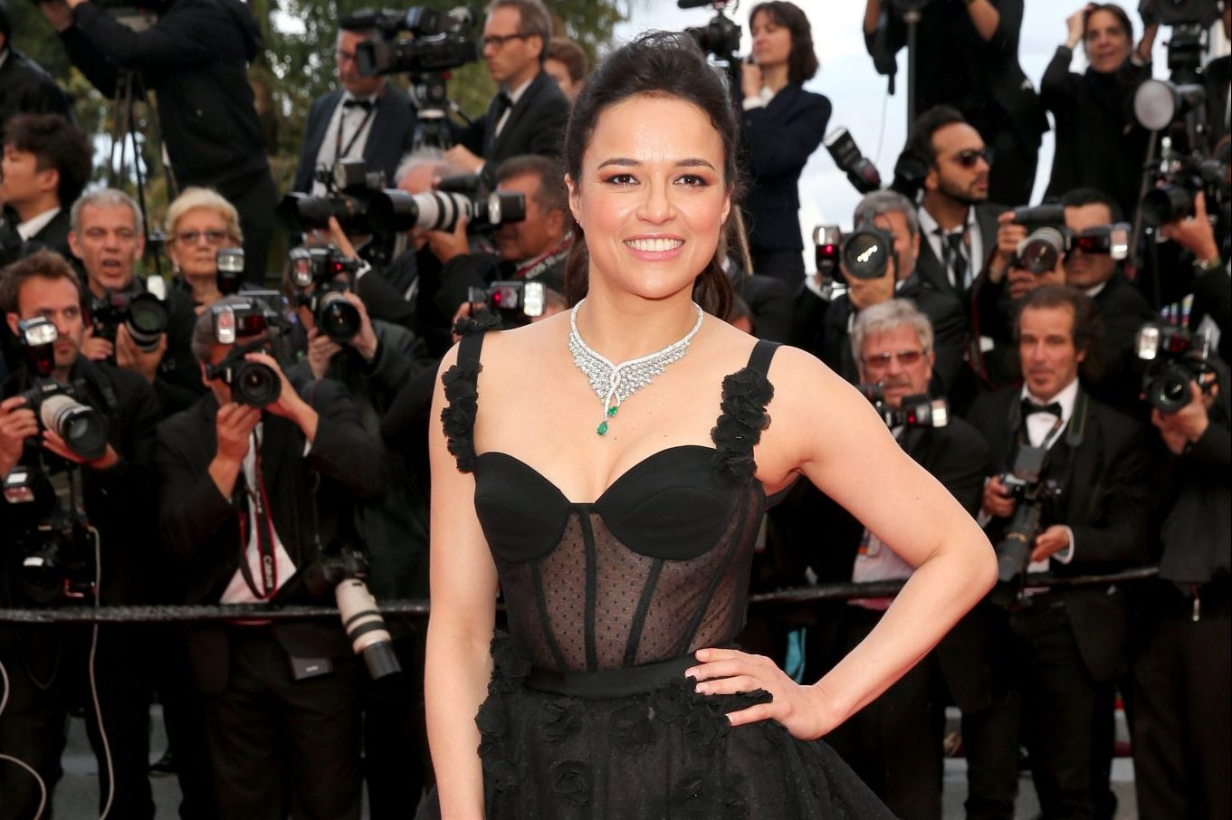 """Michelle Rodriguez attends the screening of """"Blackkklansman"""" during the 71st annual Cannes Film Festival at Palais des Festivals on May 14, 2018 in Cannes, France. Credit: Gisela Schober/Getty Images"""