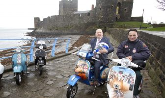 Joe Dunlop from A2 Aces Scooter Club and Cllr Noel Jordan