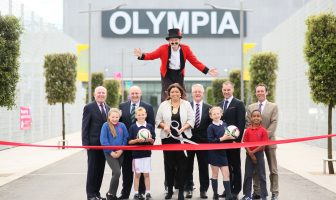 Outdoor facilities at the £21.5 million Olympia complex are officially opened today by Lord Mayor, Councillor Deirdre Hargey. Also pictured (l-r) are Alderman Jim Rodgers, Chair of council's SP&R Committee, Jack Grundie (IFA), Dr Cameron Ramsey (Linfield FC), Gareth Kirk ( GLL) James McAuley DfC with children from Donegall Road and Blythfield Primary Schools' Tia Morrison, Rocco Audley, Teya Willis and Ibrahim Ahmed.