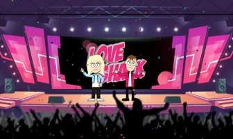 Cartoon Bill and Ellen finally make it to the Love Shack where they perform a big finale in front of their digital audience.