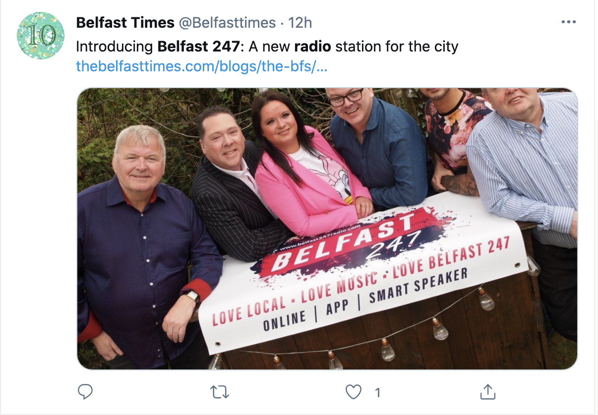 Belfast 247 Presenters Chris Hughes, Robin Elliott, Pauline Carville, Paddy Boyd, Daniel May & Kenny Tosh
